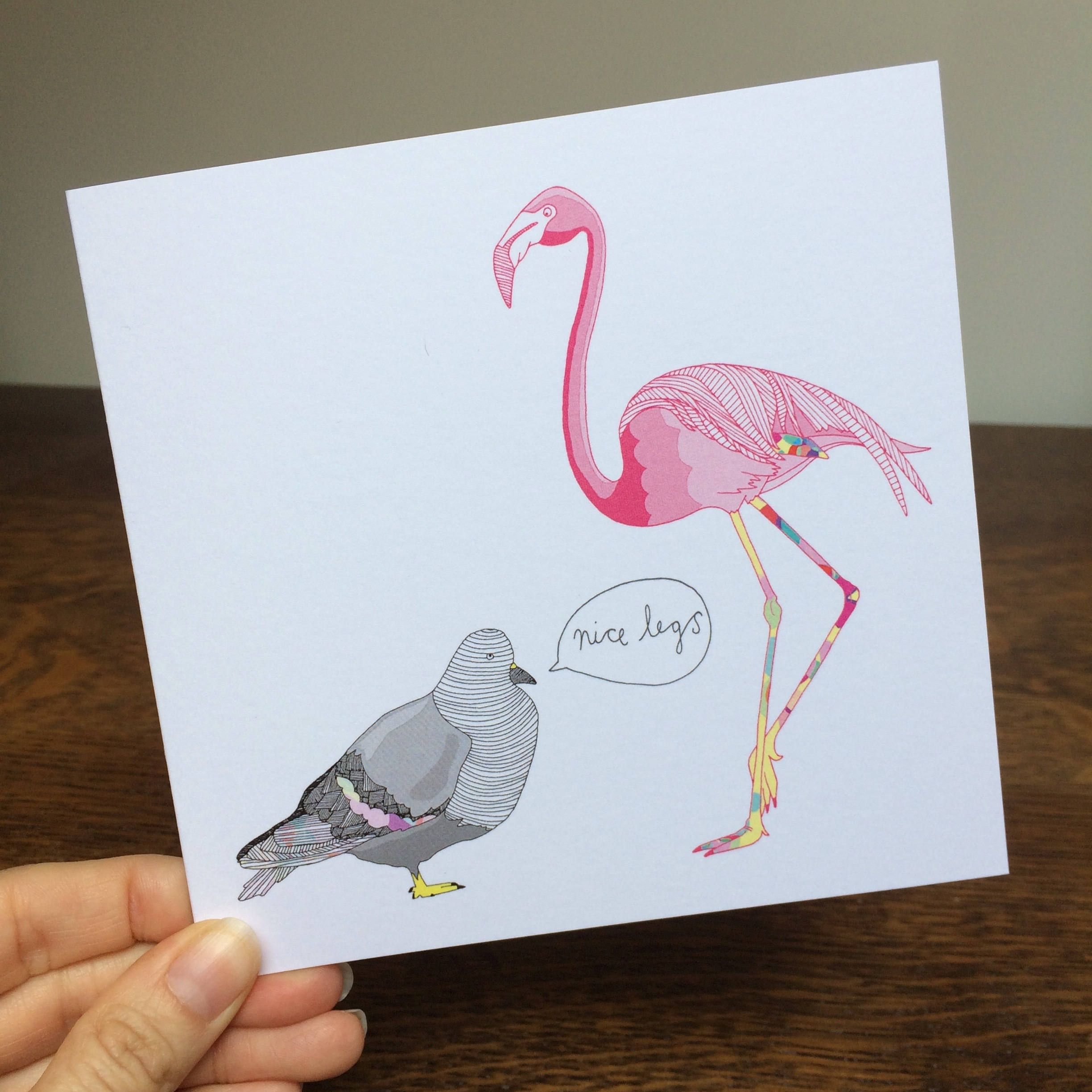 Illustrated cards hand drawn card funny card illustration