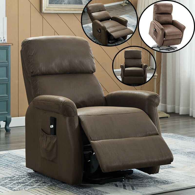 Lift Chair Recliner Sofa Modern Arm Chair Padded Brown Assist Elderly Reclining 350 99 Mo In 2020 Manual Recliner Chair Contemporary Recliner Chairs Chair Sofa Bed