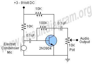 microphone preamp circuit circuit diagram simple technologies in rh pinterest com