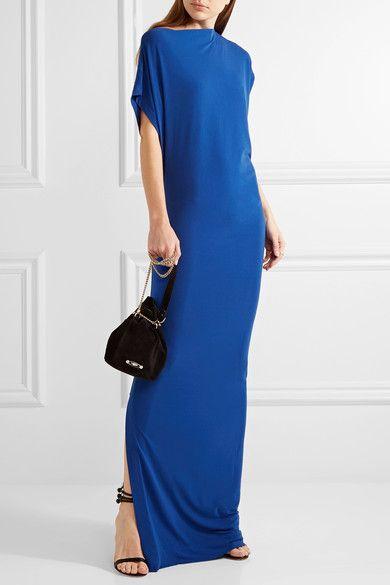 fb3575b4e940 By Malene Birger - Nasalio Draped Stretch-crepe Maxi Dress - Royal blue