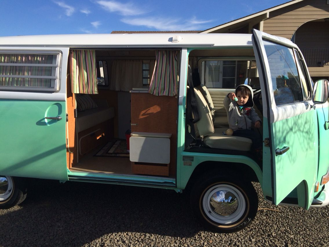 1970 vw bus westfalia camper with fold down double z bed icebox sink - Tiny Camping Trailers