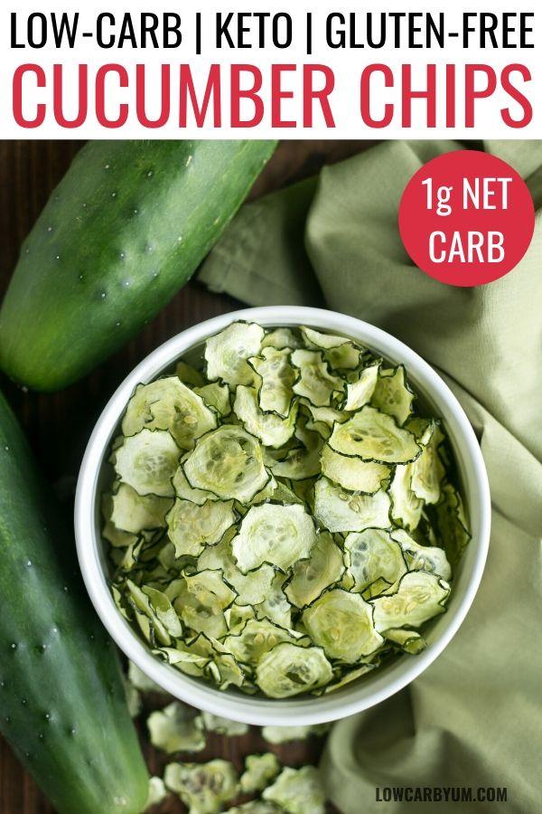 Cucumber Chips Baked (Oven, Air Fryer, Dehydrator)