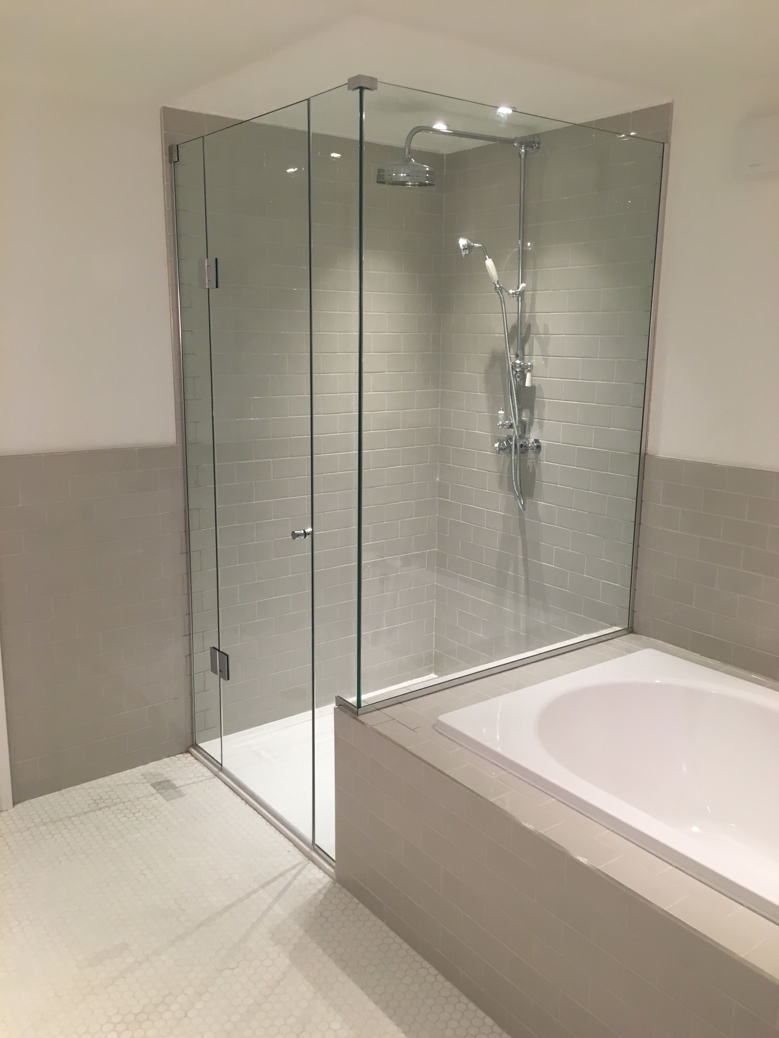 Frameless Shower Enclosure Installed Over Bath End East London Bath Shower Enclosures Shower Remodel Bathroom Remodel Shower