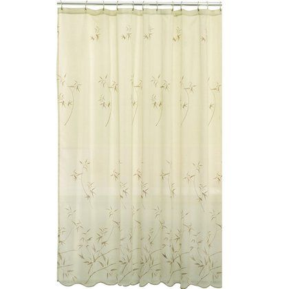 Maytex Bamboo Embroidery Fabric Shower Curtain Free Shipping