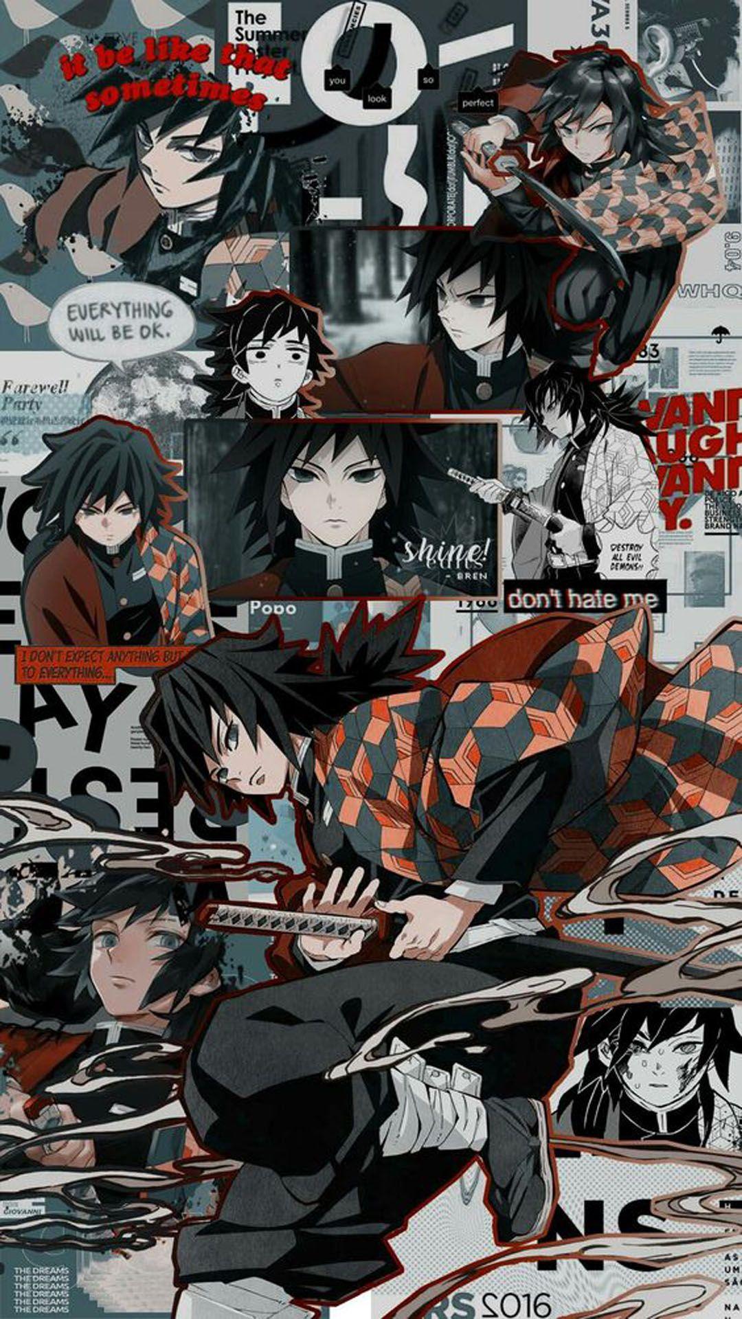 Demonslayer Giyu Tomioka Ilustrasi Karakter Seni Siluet Manga Anime Demon slayer anime phone wallpaper