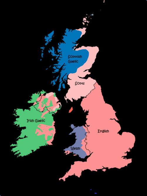 Languages Of Great Britain And Ireland In Maps Pinterest - Irish language map