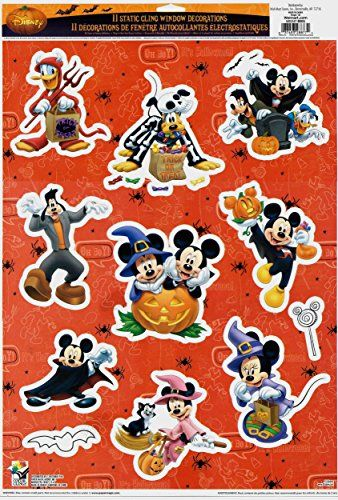Mickey Mouse and Friends Halloween Window Clings Disney   www - halloween window clings