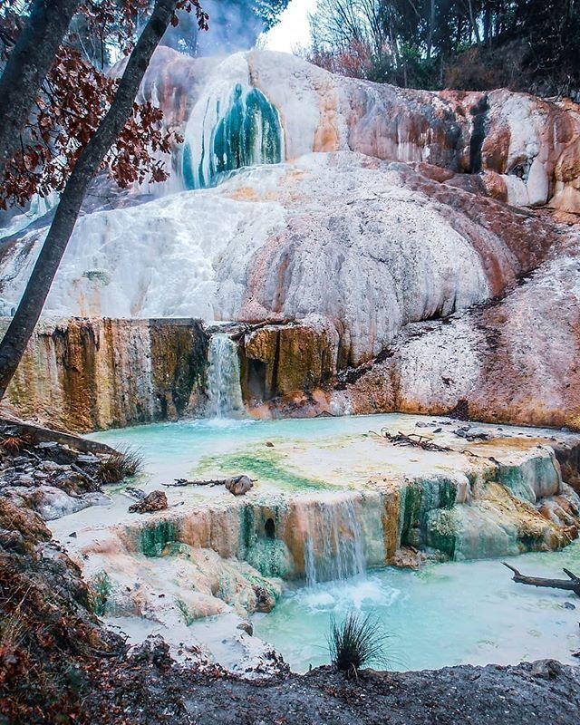 Bagni San Filippo hot springs in Val d'Orcia, Tuscany