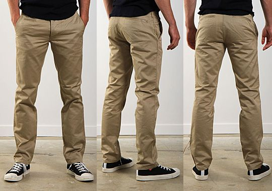 Wings+Horns Westpoint Chino in khaki cotton twill #pants #chinos #khaki