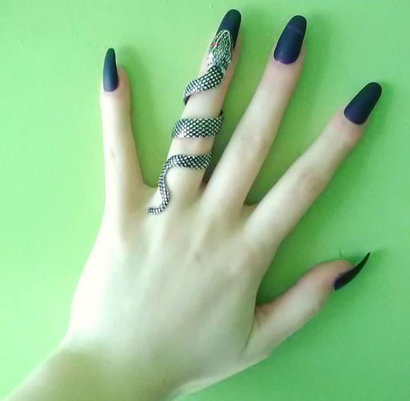 This ring is inssssssssssane // Silver Snake Full Finger