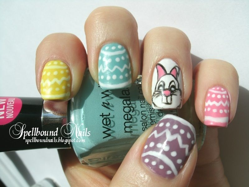 Easter Bunny http://spellboundnails.tumblr.com/image/23052343847 ...