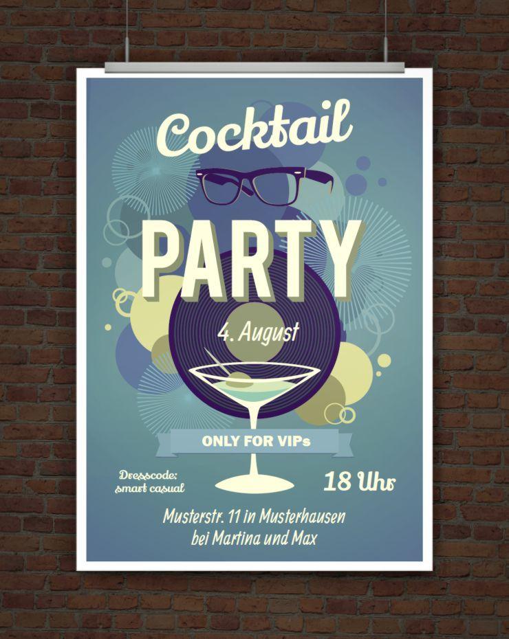 Vorlage Einladung Cocktail Party Cocktailparty Einladungen Cocktail