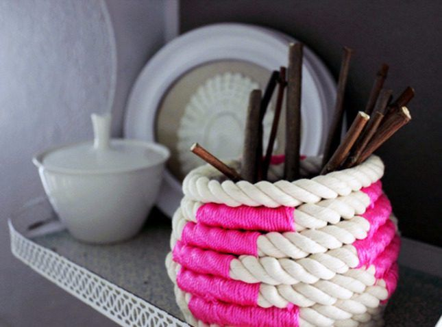 23 Pretty Ways to Use Baskets As Extra Storage in Small Spaces via Brit + Co