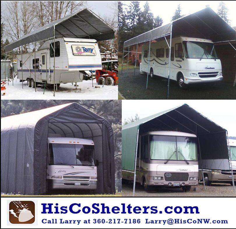 Diy Portable Carport Shelter Kit Portable Garage Long Lasting Heavy Duty Covers For Motorhome 5th Wheel Rv Trailer Portable Carport Carport Kits Carport