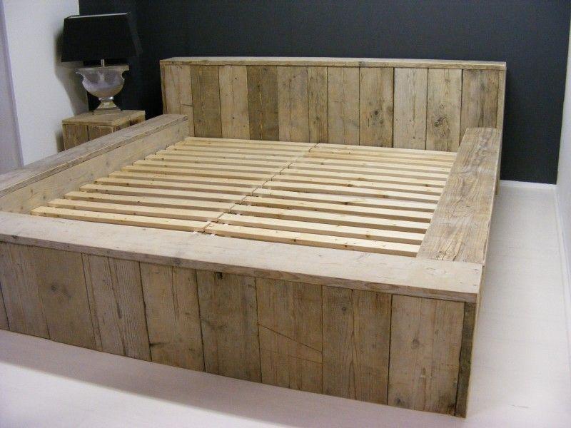 Houten tweepersoonsbed maken google zoeken bed pinterest beds - Houten bed ...
