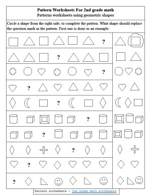 pattern worksheets 2nd grade quinto. Black Bedroom Furniture Sets. Home Design Ideas