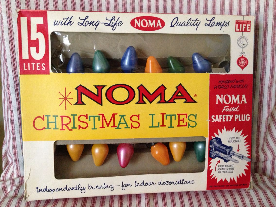 Vintage Noma Christmas lights. Found at the thrift store. They still ...