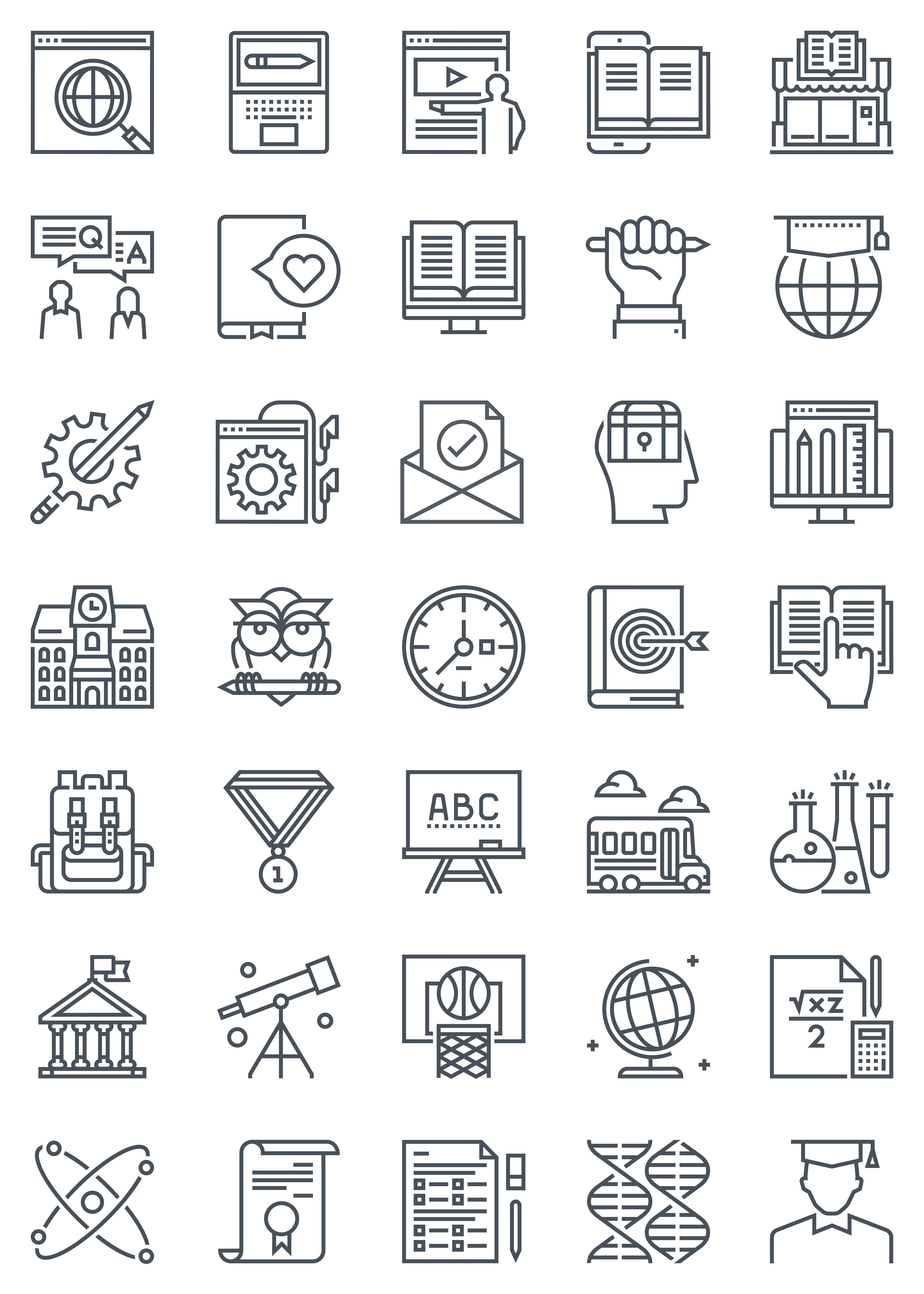 Education Icon Set Suitable For Info Graphics Websites And Print