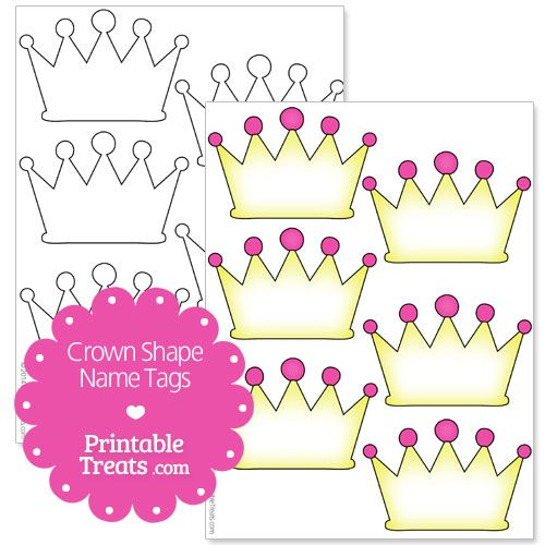 free printable crown name tags | B-days | Pinterest | Free ...