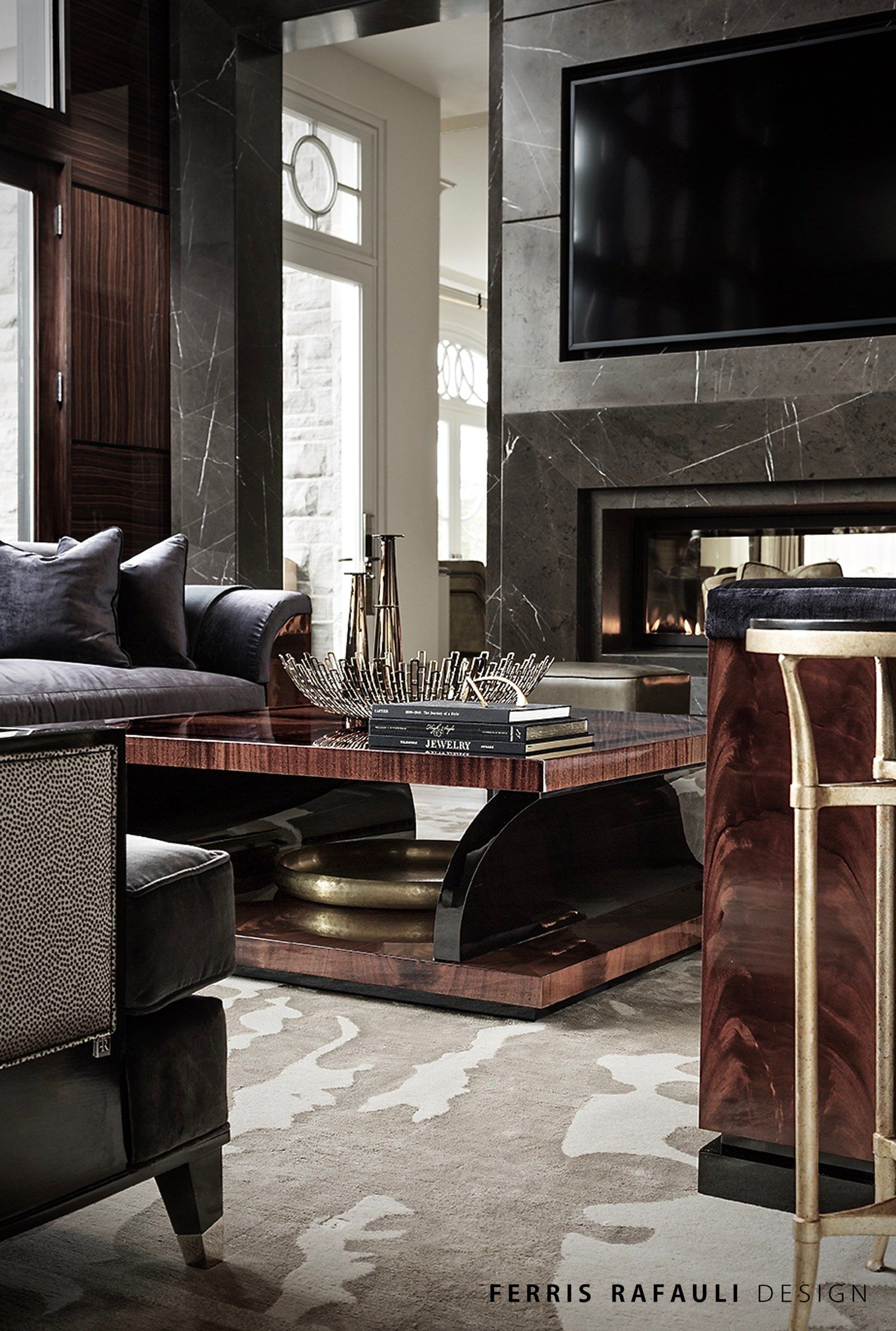Nyc Loft Room Entertainment Wall Ideas With Fireplace Interior Design: Architecture By Ferris Rafauli