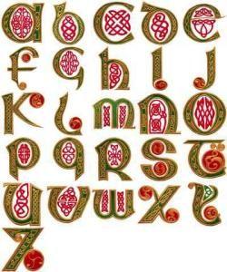 Celtic Alphabet