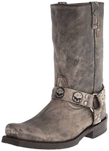 Harley-Davidson Men's Rory Harness Motorcycle Boot, Slate, 11.5 M US Harley-