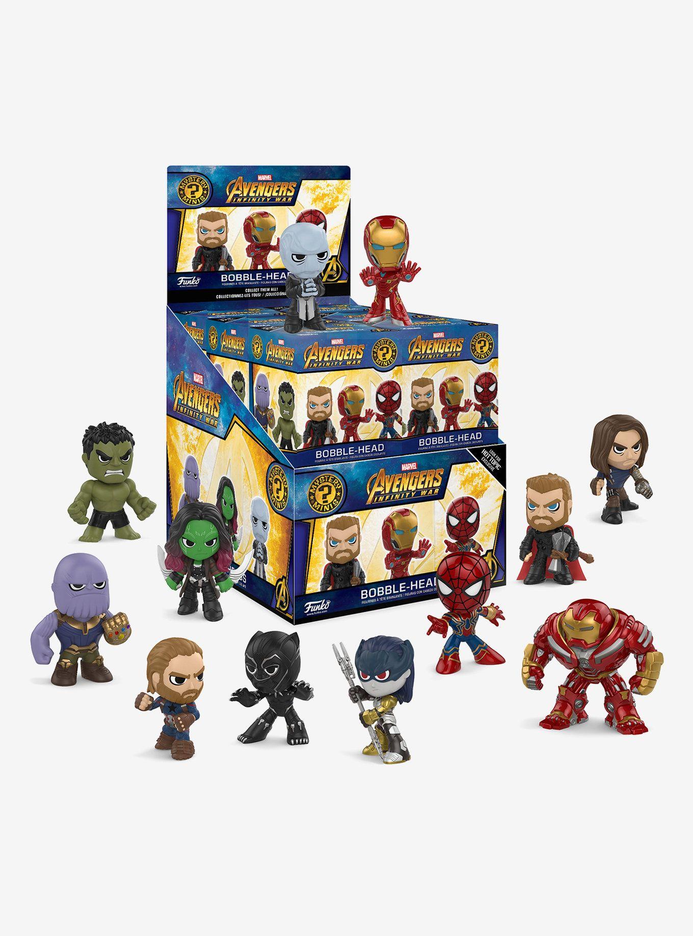 Marvel Avengers Infinity War Mystery Minis Blind Box Vinyl Bobble Head Hot Topic Exclusive Mystery Minis Marvel Infinity War Avengers Infinity War