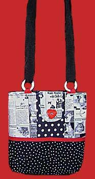 Free purse pattern with adjustable handle.