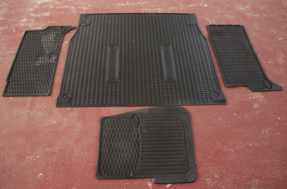 Oem Land Rover Discovery Rubber Floor Mats Cargo Area Floor Mat Front Rear Rubber Floor Mats Floor Mats Land Rover Discovery