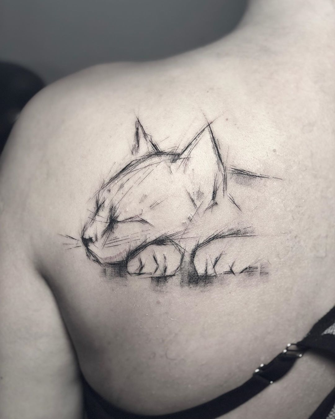Pomalu Tattoo On Instagram Berlin 4 6 07 Available Appointments And Designs Done At In 2020 Cat Tattoo Designs Black Cat Tattoos Cute Cat Tattoo