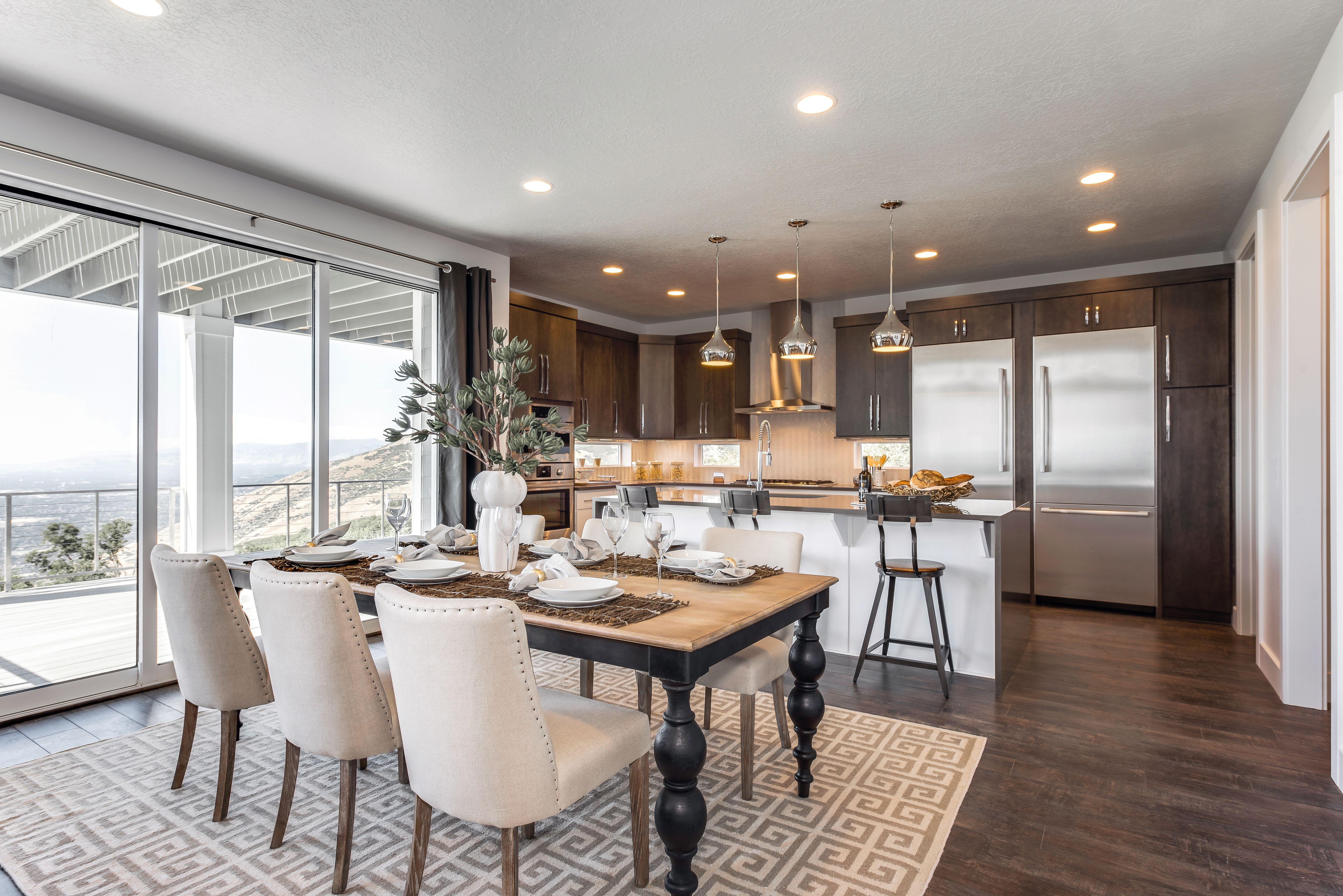 There S Plenty Of Space In This Open Dining Room And Kitchen For