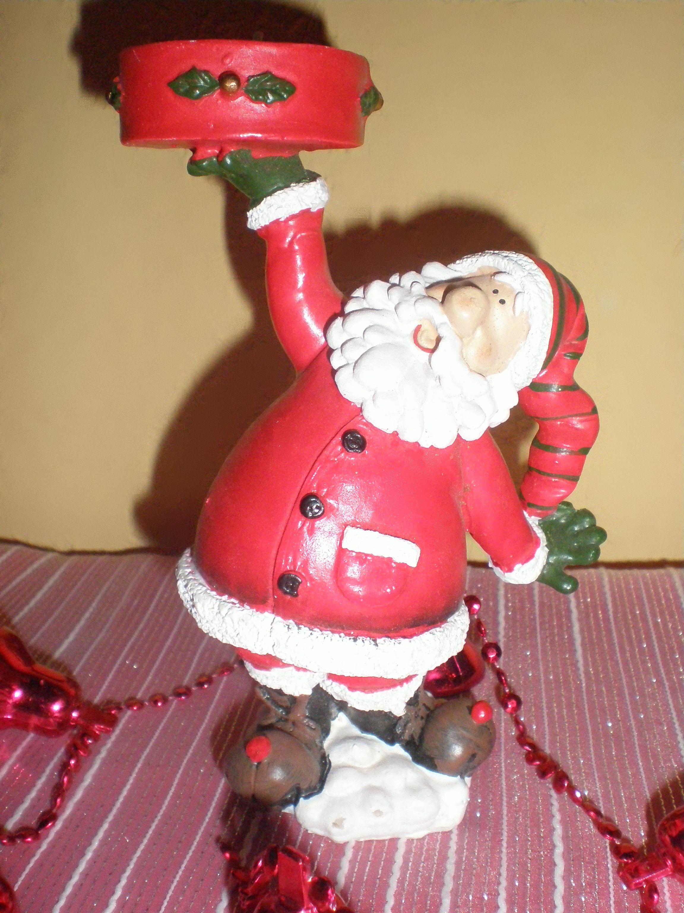Papá Noel para vela
