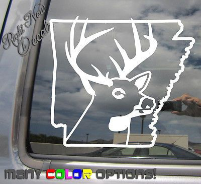 Buy arkansas deer hunter hunting season outdoor car window vinyl decal sticker 01209 at online store