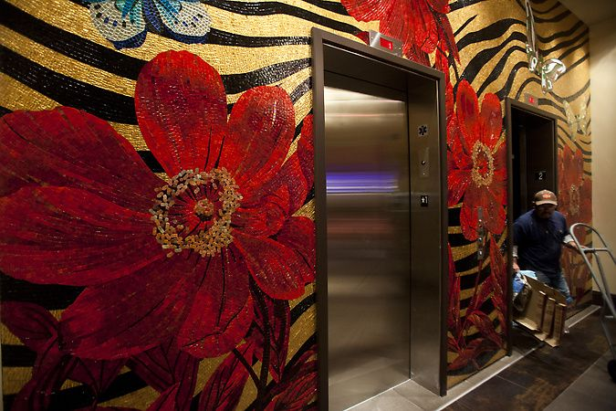 An Elevator Lobby At The New Casino M8trix In San Jose