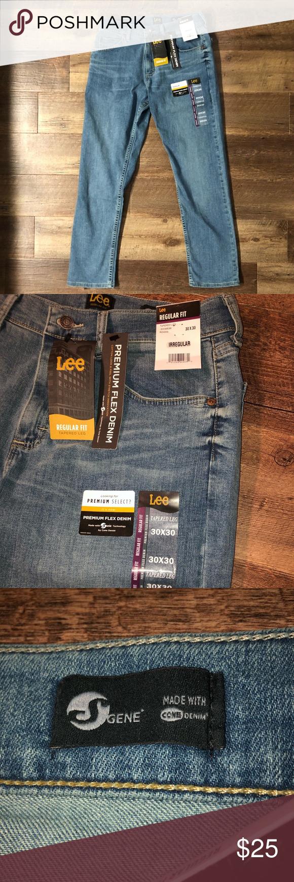 6ebec8e032f10 Lee Men's 30x30 Regular Fit Tapered Leg Jeans 📦Bundle & Save ...