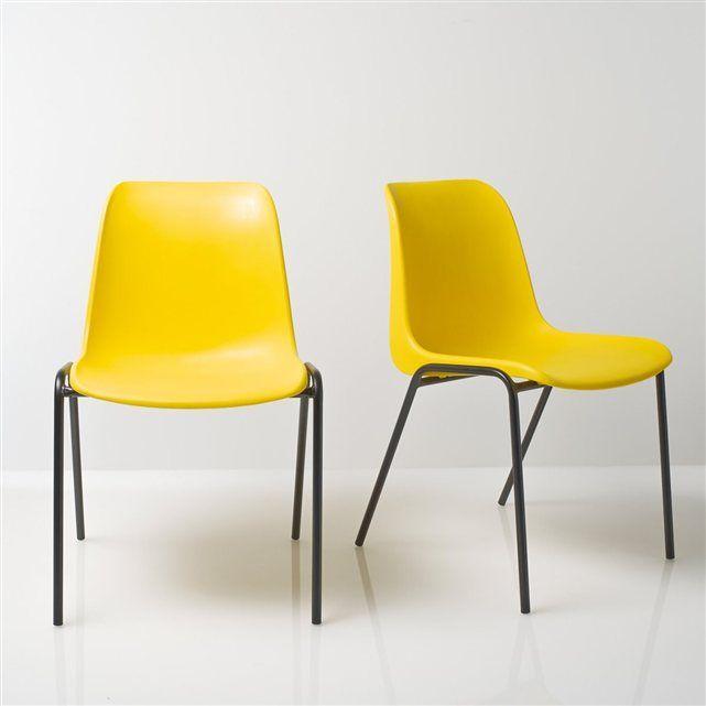 Chaise vintage empilable, (lot de 2), Janik Salons