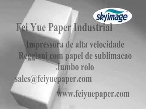 Impressora de alta velocidade Reggiani com papel de sublimação Jumbo rolo