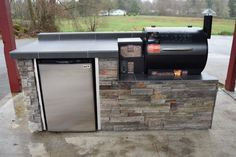 Outdoor Kitchen For The Traeger Pellet Grill We Custom Build Any Or Area Call Today Your Quote 503 831 4677 Sunset