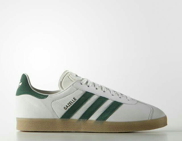 adidas gazelle vintage white collegiate green