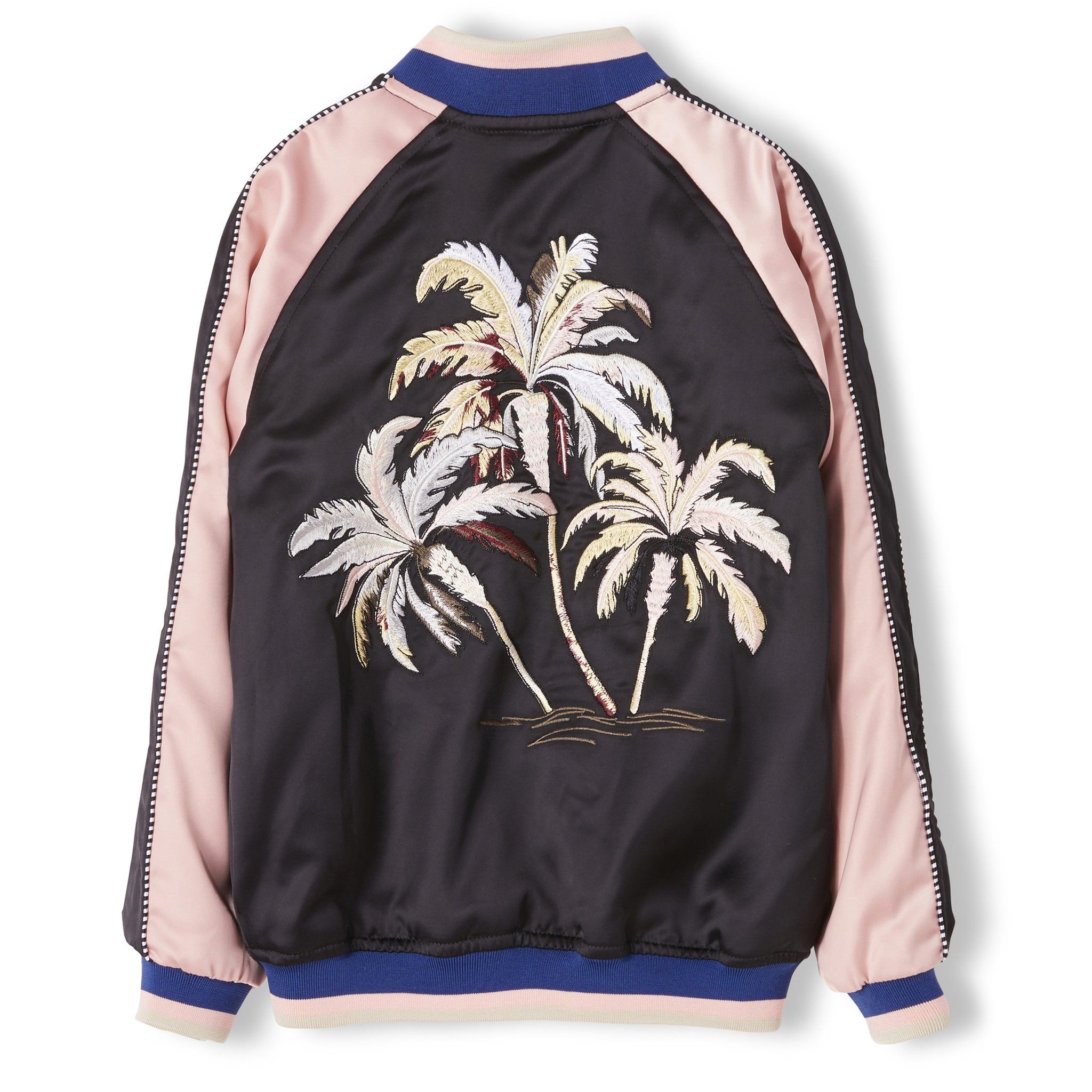 PRETENDER Summer Black Palm Tree - Unisex Varsity Jacket – Finger in the nose