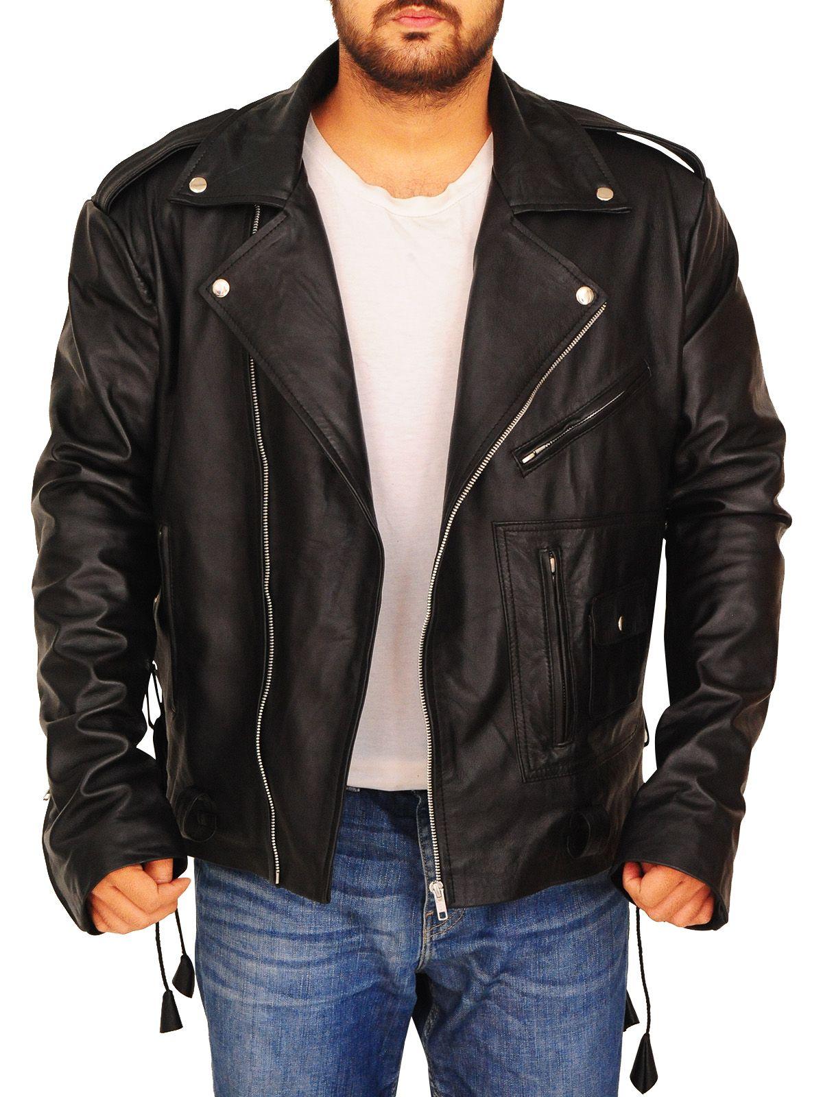 Black Waist Belted Leather Jacket Black Waist Belt Jackets Leather Jacket [ 1600 x 1200 Pixel ]