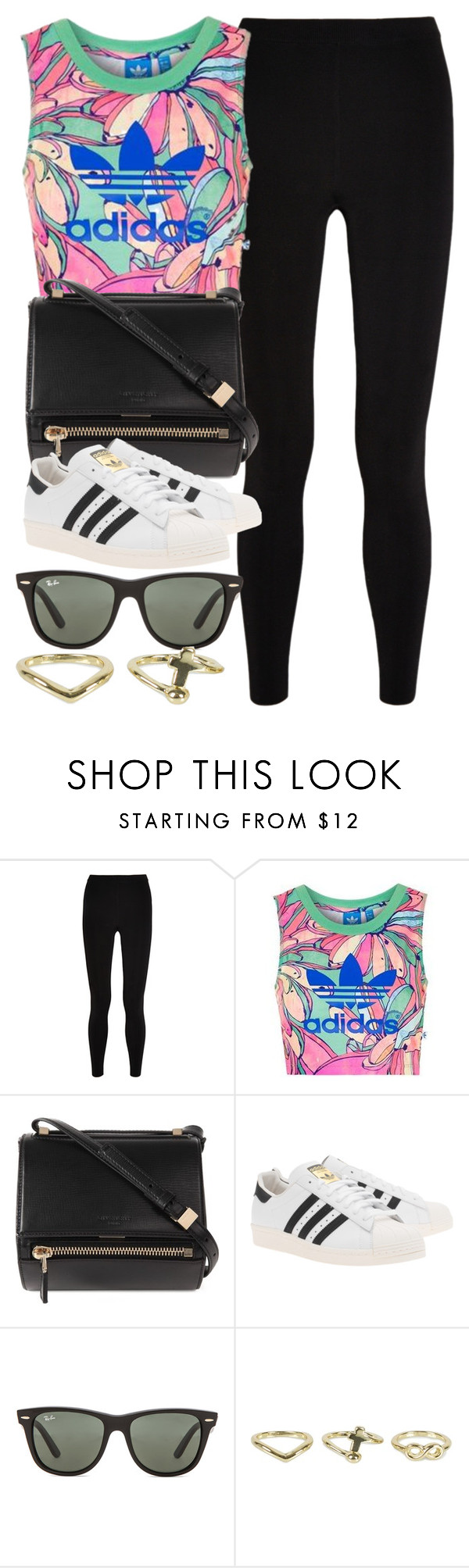 """""""Style #10467"""" by vany-alvarado ❤ liked on Polyvore featuring T By Alexander Wang, Topshop, Givenchy, adidas Originals, Ray-Ban and NLY Accessories"""
