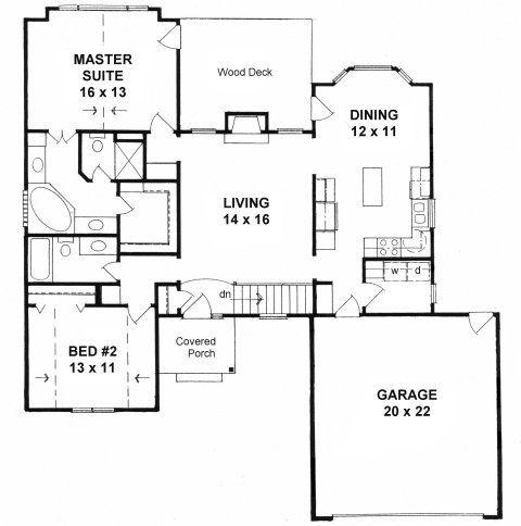 Plan # 1287 - American Design Gallery   ADG House Plans   Pinterest ...