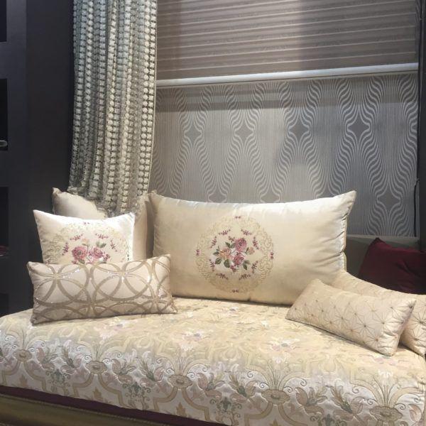 salon marocain blanc cass chic amenda decor - Sedari Marocain Blanc