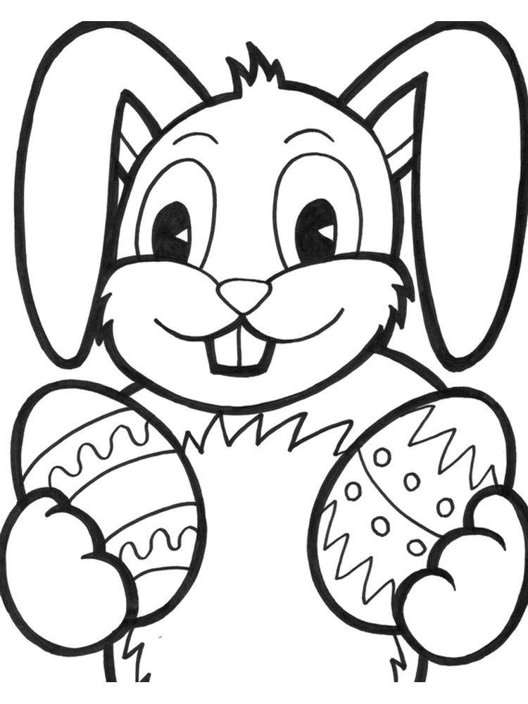 Easter Bunny Coloring Pages Pdf (Dengan gambar)