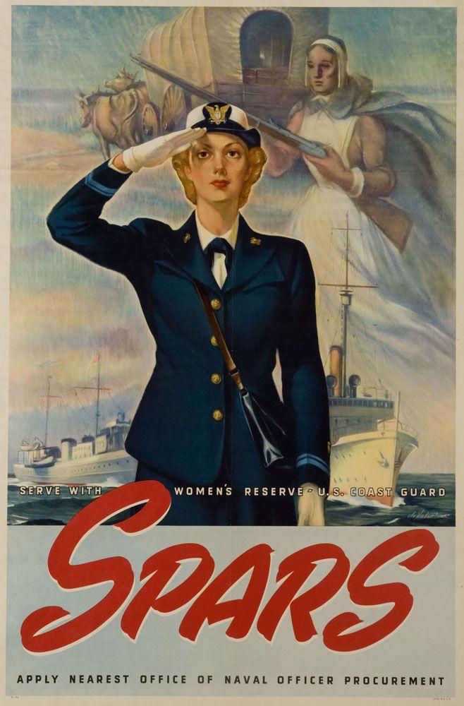SPARS - Serve with women\u0027s reserve - US Coast Guard, circa 1943