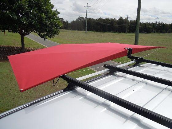 Car Shade Clevershade 4wd Vehicle Awning Red Canopy Car Shade Shades Car