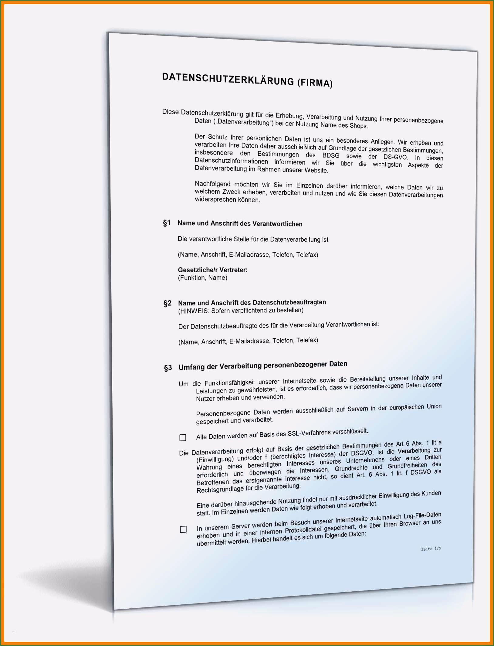 30 Erstaunlich Vorlage Datenschutzerklarung Website Abbildung Lebenslauf Briefkopf Vorlage Vorlagen