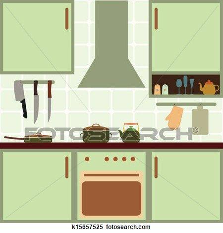 Vector Kitchen Clipart K15657525 Kitchen Clipart Clip Art Quiet Book Templates