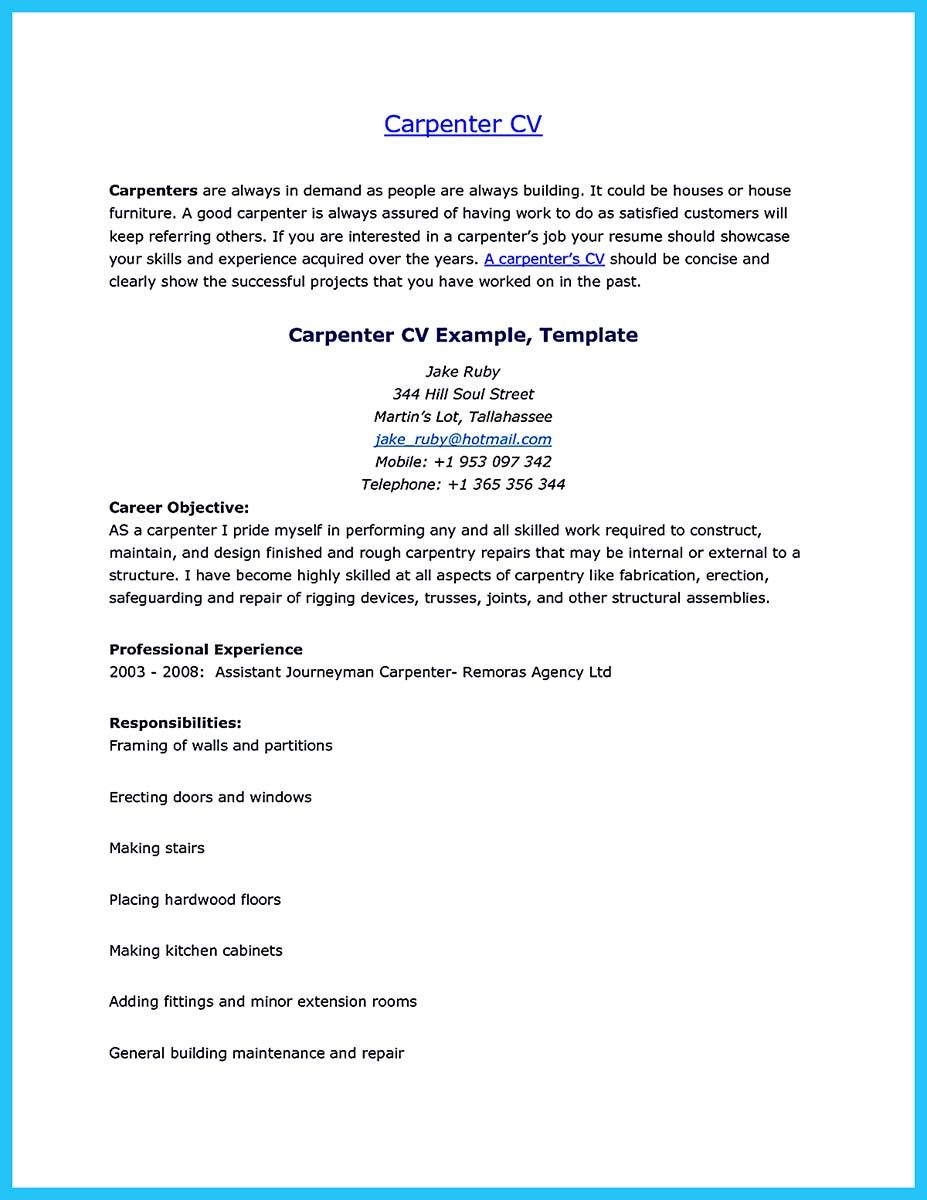 Awesome Tips You Wish You Knew To Make The Best Carpenter Resume Check More Resume Template Australia Unique Resume Template Free Professional Resume Template
